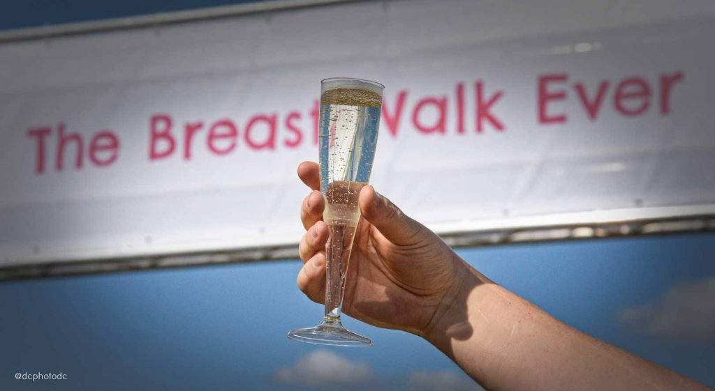 Pink Ribbon Bingo Sponsors Breast Walk Ever
